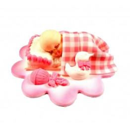 Śpiący bobas różowy-dziewczynka