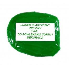 Lukier plastyczny zielony 1kg