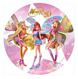 Opłatek na tort Winx 3D-Nr 2-21cm