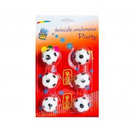 Świeczki urodzinowe w kształcie piłki nożnej