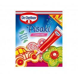 Pisaki cukrowe Dr Oetker 4 kolory
