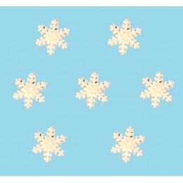 Płatki śniegu z cukru-małe