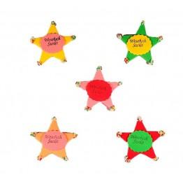 Gwiazdy świąteczne duże z cukru 5 sztuk