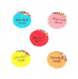 Świeczki urodzinowe cyferki kolorowe 8