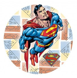 Opłatek na tort Superman-21cm