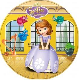 Opłatek na tort Księżniczka Zosia-Nr 2-21cm