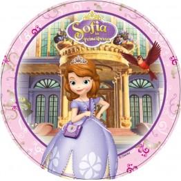 Opłatek na tort Księżniczka Zosia-Nr 3-21cm