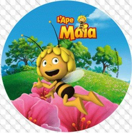 Opłatek na tort Pszczółka Maja-Nr 12-21cm