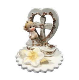 Figurka komunijna Dziewczynka z sercem
