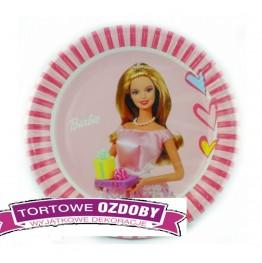Talerzyki papierowe-Barbie-23cm 10 sztuk