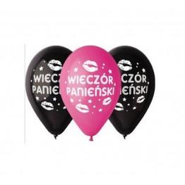 """Balony na wieczór panieński  """"Całusy"""" 5 sztuk"""