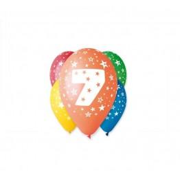 Balony z nadrukiem Siódemka (5 sztuk)