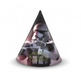 Czapeczki papierowe Star Wars 6 sztuk