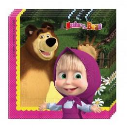 Serwetki papierowe Masha and Bear-20 sztuk