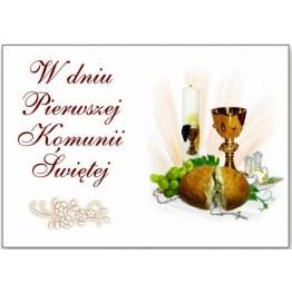 Prostokątny opłatek na tort komunijny Komunia Święta-1-29cmx20cm