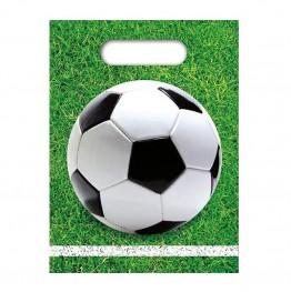 Torebki urodzinowe Piłka Nożna 6 sztuk