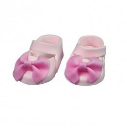 Para bucików na chrzest różowa-Natalia