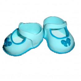 Para bucików na chrzest niebieska-Dekor Pol