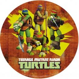 Opłatek na tort Żółwie Ninja-2-20cm