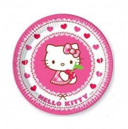 Talerzyki papierowe-Hello Kitty-23cm 8 sztuk