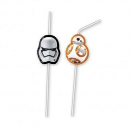 Słomki z medalionami Star Wars-6 sztuk