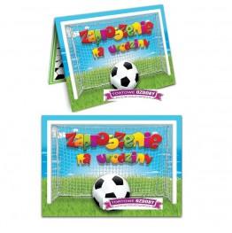 Zaproszenie na urodziny piłkarskie-10 sztuk