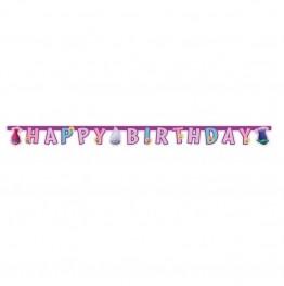 "Banner """"Trolls"" - Happy Birthday"""