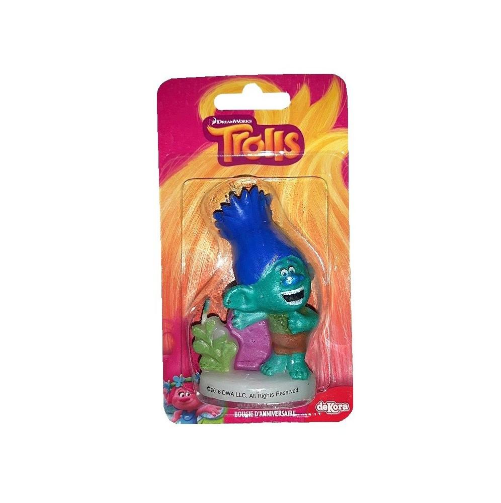 Świeczka urodzinowa Trolle-niebieski-Dekora