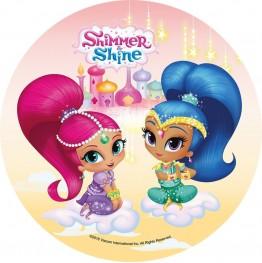 Opłatek na tort Shimmer&Shine-Nr 4-20cm