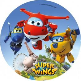 Opłatek na tort Super Wings-Nr 1-20cm