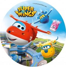 Opłatek na tort Super Wings-Nr 3-20cm