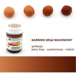 Barwnik Food Colours w żelu brąz mahoniowy 35g
