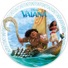 Opłatek na tort Vaiana-Skarb Oceanu-3-20cm