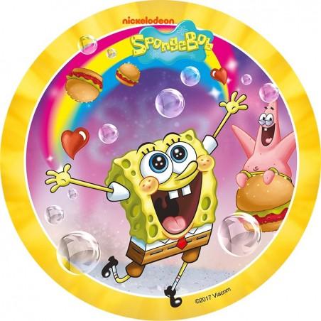 Opłatek na tort SpongeBob-Nr 4-21cm