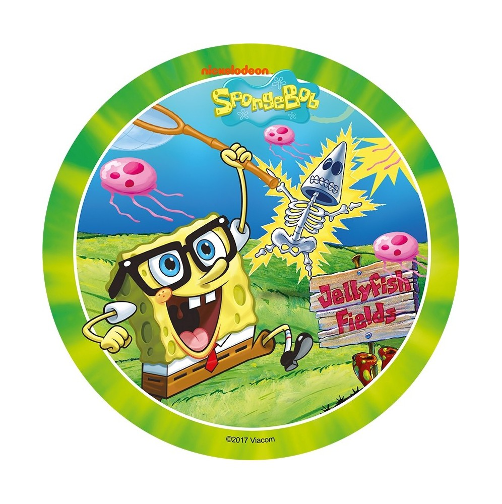 Opłatek na tort SpongeBob-Nr 5-21cm