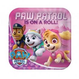 Talerzyki papierowe-Psi Patrol-23cm 8 sztuk
