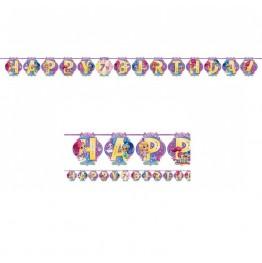 Banner urodzinowy Shimmer & Shine-200 cm