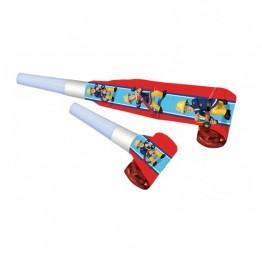 Papierowe trąbki Strażak Sam-8 sztuk