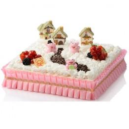 Serwetki papierowe pod ciasto 21,5cm-100 sztuk
