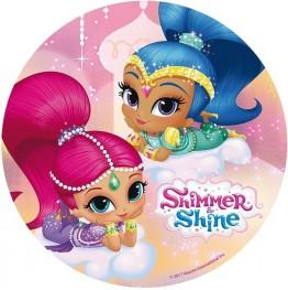 Opłatek na tort Shimmer&Shine-Nr 6-20cm