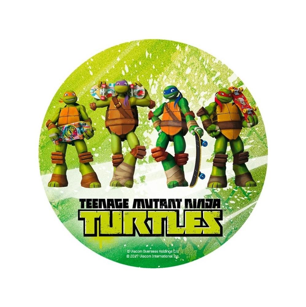 Opłatek na tort Żółwie Ninja-9-20cm