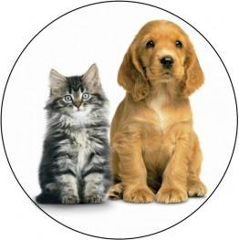Opłatek na tort Pies i Kot-3-20cm