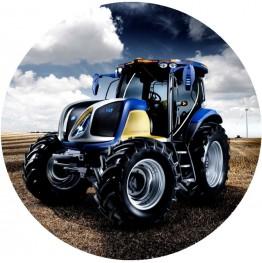 Opłatek na tort Traktor-2-20cm