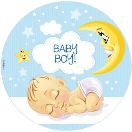 Opłatek na tort Baby Boy-2-20cm