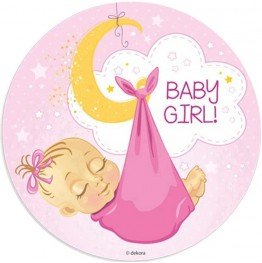 Opłatek na tort Baby Girl-1-20cm