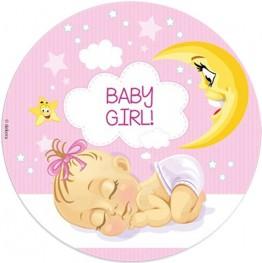 Opłatek na tort Baby Girl-2-20cm
