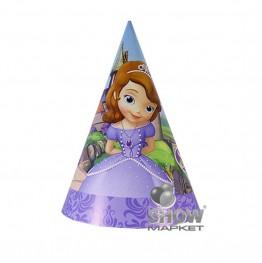 Czapeczki papierowe Księżniczka Zosia-6 sztuk
