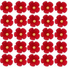 Kwiatuszki mini czerwone-100 sztuk