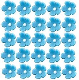 Kwiatuszki mini niebieskie-100 sztuk