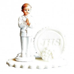 Figurka komunijna Chłopiec z hostią